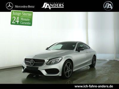 gebraucht Mercedes C250 d Coupé AMG Navi+LED+Night+360°+Distr+Totw