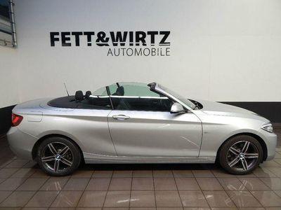 gebraucht BMW 220 d Cabrio Sport Line Aut. Navi HIFI Xenon PDC