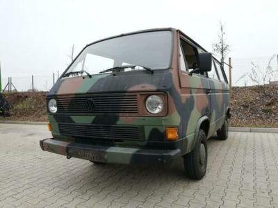 gebraucht VW T3 Bundeswehr Bulli in Tarnfarbe