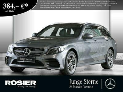 gebraucht Mercedes C220 d 4M T AMG Sport LED Pano Navi SHD Spur