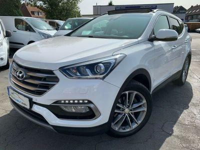 gebraucht Hyundai Santa Fe Premium blue 4WD Panorama + Leder*