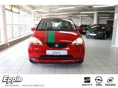gebraucht Seat Mii 1.0 Style Salsa NR Klima CD AUX MP3 ESP Spieg. beheizbar Seitenairb. Scheckheft Gar.