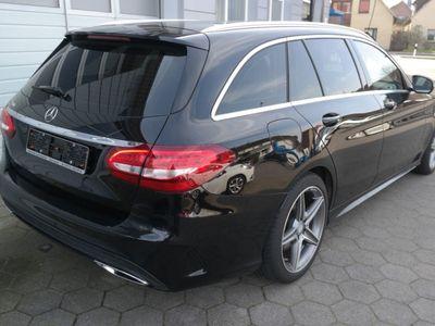 gebraucht Mercedes 220 C-Klasse T-ModellT AMG Line+Navi+AHK+Leder