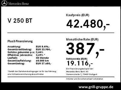 gebraucht Mercedes V250 BT L 7-Sitzer NAVI AHK RÜ-KAM SPORTPAKET