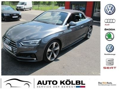gebraucht Audi A5 Cabriolet Sport Cabrio 3,0 TDI quattro S tronic EU6 - LED S line Navi KAM PDC ALU 19