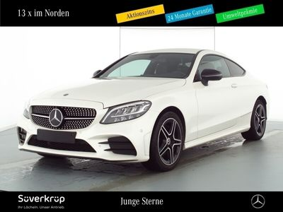 gebraucht Mercedes C180 AMG Line Coupe Night/LED/Kamera/Navi/PDC
