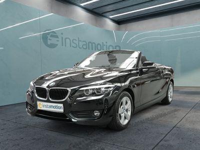 gebraucht BMW 218 218 iA Cabrio Advantage LEDER+NAVI+LED+H/K+KEYLES