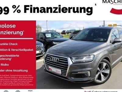 gebraucht Audi Q7 e-tron S Line 3.0 TDI AHK Luftfwk Matrix Stan memory el. Sitze Standhzg ACC Sportpaket