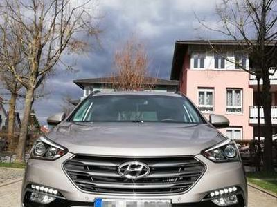 gebraucht Hyundai Santa Fe blue 2.2 CRDI 4WD Automatik Style