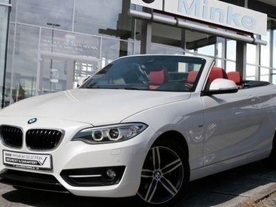 gebraucht BMW 218 i Cabrio Navi Xenon Leder