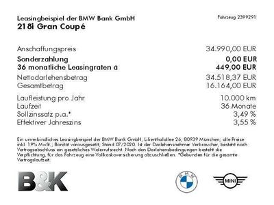 gebraucht BMW 218 i Gran Coupé Bluetooth HUD LED Klima PDC