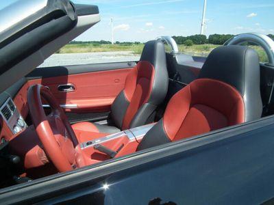 gebraucht Chrysler Crossfire Cabrio schwarz / rotes Leder