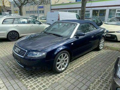 gebraucht Audi A4 Cabriolet 2,5 TDI blauer Verdeck