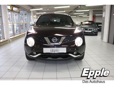 gebraucht Nissan Juke Tekna 1.2 DIG-T Leder Navi Keyless Rückfahrkam. LED-Tagfahrlicht Multif.Lenkrad