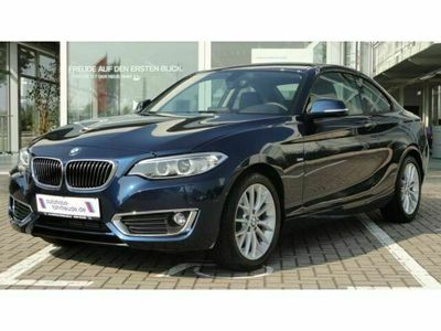 gebraucht BMW 220 d Coupe´ Luxury*DAB*Navi*Leder*Xenon*EURO 6 als Sportwagen/Coupé in Halle