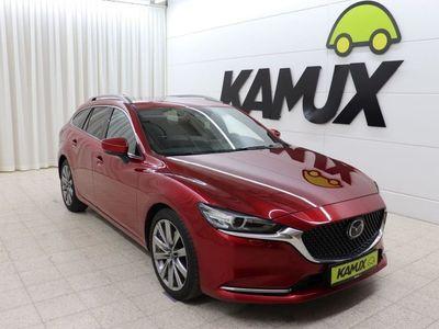 gebraucht Mazda 6 Kombi 2.2 TD Aut. Sports-Line +LED +HUD +ACC +Navi +Bose +Leder