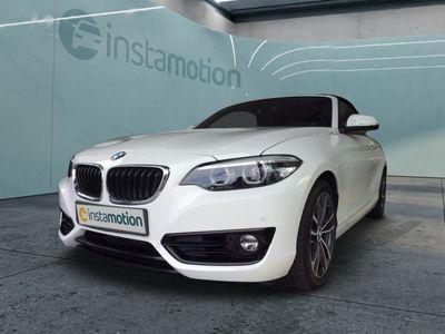 gebraucht BMW 218 218 i SportLine Cabrio Navi Harman&Kardon OpenAirPaket Leder PDC