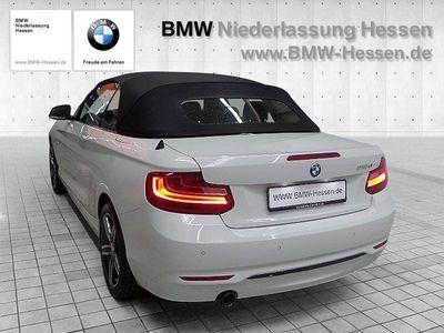 gebraucht BMW 218 d Cabrio Navi Sport Line Klimaautomatik PDC