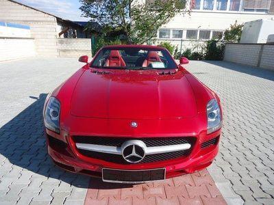gebraucht Mercedes SLS AMG Roadster Saphirrot/Leder schwarz/rot