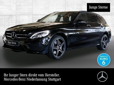 gebraucht Mercedes C400 T 4M AMG LED Night Kamera Navi PTS 9G Sitzh