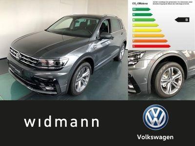 gebraucht VW Tiguan Highline 2.0 l TDI SCR 4MOTION 140 kW (19 LED Navi R-line Titanschwarz/Titanschwarz/Schwarz/ Stormgrey