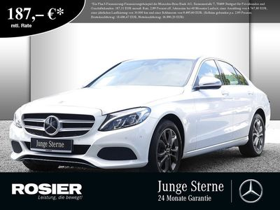 gebraucht Mercedes C200 4M Avantgarde Distronic SHD Navi LED+ Kame