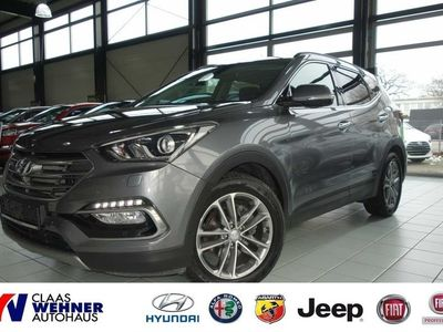 gebraucht Hyundai Santa Fe blue 2.2 CRDI 4WD Automatik Premium *Around-View,