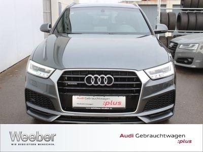 gebraucht Audi Q3 2.0 TDI quattro sport S line AHK Navi LED 19