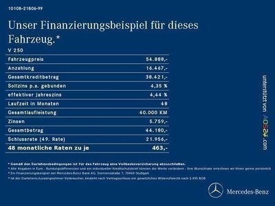 gebraucht Mercedes V250 Anantgard Edi. 19-Zoll Comand LED 360 VOLL