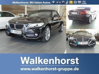 gebraucht BMW 218 d Cabrio Sport Line 17'' LM Navi Xenon PDC