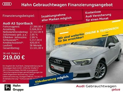 gebraucht Audi A3 Sportback 1.5TSI S-trc Navi Xen CAM Sitzh Klima