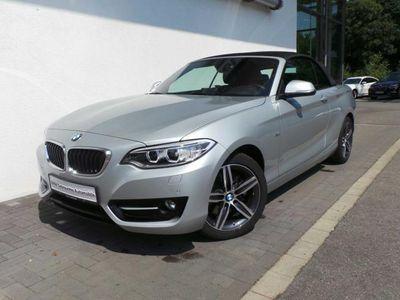 gebraucht BMW 220 d Cabrio Sport Line/Navi/Xenon/PDC/Leder/FSE