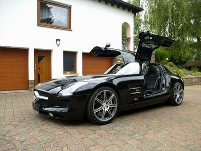 gebraucht Mercedes SLS AMG Coupe Schwarz/Leder schwarz Top Zustand