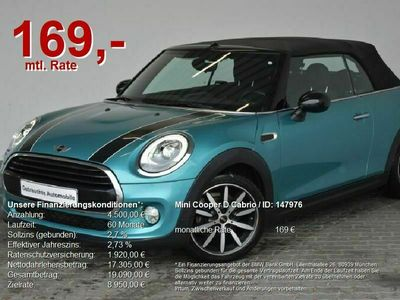 gebraucht Mini Cooper D Cabriolet NaviProf.LED.17Zoll als Cabrio/Roadster in Heilbronn