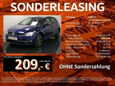 gebraucht VW Golf VII 1.5 TSI DSG JOIN Navi dyn Blinker ACC