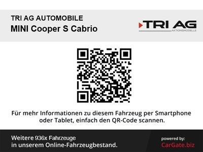 gebraucht Mini Cooper S Cabriolet Navi Kurvenlicht El. Verdeck Klimaautom SHZ Multif.Lenkrad RDC Alarm Temp