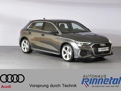 gebraucht Audi A3 Sportback ** neues Modell ** S line 35 TFSI 110(150) kW(PS) Schaltgetriebe KLIMA LED NAVI LEDER ALU