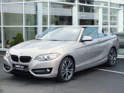 gebraucht BMW 218 d Cabrio Sport Line Navi Xenon HiFi USB PDC