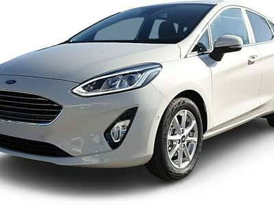 gebraucht Ford Fiesta Fiesta 1.0 EcoBoost Hybrid 125PS Titanium 5-türig Klimaautomatik Sitzheizung Lenkradheizung Ford-Navi SYNC3 DAB+ 8''-Touchscreen mit Bluetooth Apple CarPlay Android Auto Frontscheibe beheizb. PDC v+h