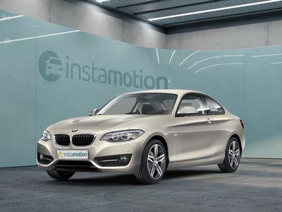 gebraucht BMW 220 220 d Coupe Sport Line Navi Leder Parksensoren