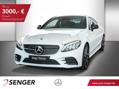 gebraucht Mercedes C200 COUPE+9G TRONIC+AMG-LINE+PANO+LED+TEMP+SHZ