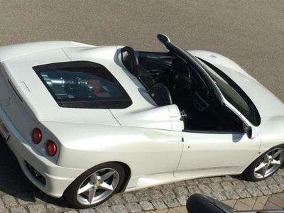 gebraucht Ferrari 360 Spider F1 Einmalig in Pearl Weiß 100%History