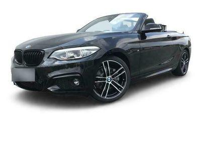 gebraucht BMW 220 d M Sport Cabrio EU6d-T Leder Navi Kurvenlicht Rückfahrkam. Fernlichtass.