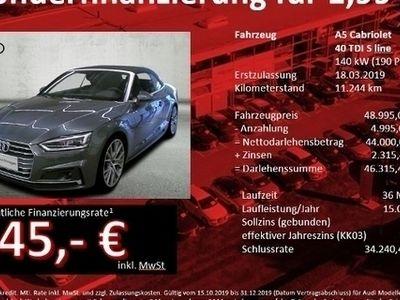 gebraucht Audi A5 Cabriolet 40 TDI Design S tronic LED NaviPlus