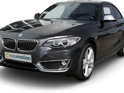 gebraucht BMW 220 220 d Luxury Line Coupe Leder Navi Keyless Rόckfahrkam. Holzausst. PDCv+h LED-hinten LED-Tagfahrlicht