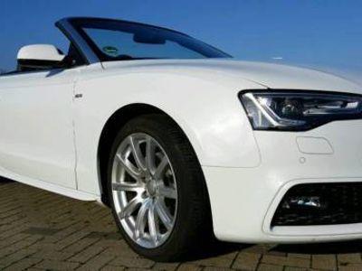 gebraucht Audi A5 Cabriolet S- Line weiß Metallic