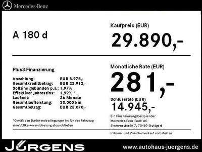 gebraucht Mercedes A180 CDI BlueEFFICIENCY Limousine AMG Line+Navi