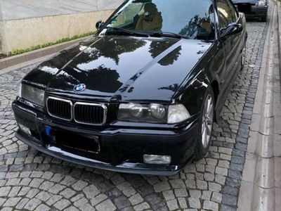 gebraucht BMW 328 Cabriolet e36 orginal i Cosmosschwarz SAFRANGELB