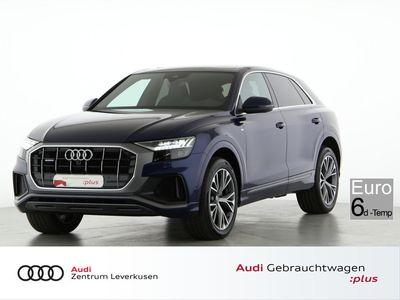 gebraucht Audi Q8 50 S line MATRIX PANO HUD ASSIST LEDER KAMERA - Leder,Klima,Schiebedach,Sitzheizung,Alu,Servo,