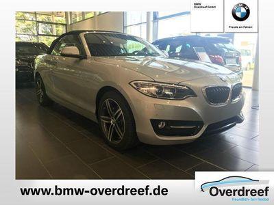 gebraucht BMW 220 d Cabrio Sport Line Aut. Navi Business Klimaaut. S